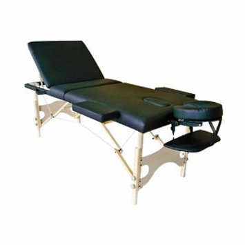 Ggi International 3 Fold Reiki Portable Massage Table and Carrying Case Color: Black