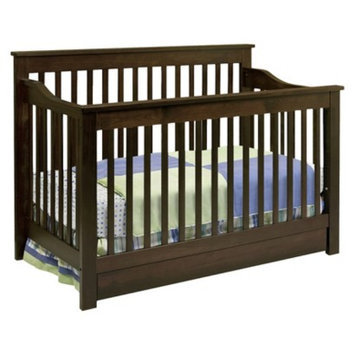 DaVinci Piedmont 4-in-1 Convertible Crib with Toddler Rail - Espresso