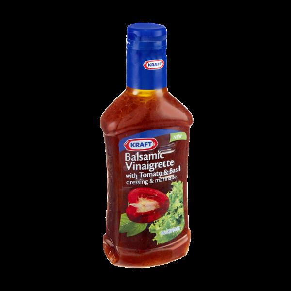 Kraft Balsamic Vinaigrette with Tomato & Basil Dressing & Marinade