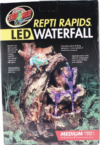 Zoo Med Repti Rapids LED Waterfall - Wood Style: Medium - (10