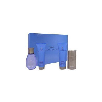 Hei by Alfred Sung for Men - 4 pc Gift Set 3.4 oz EDT Spray, 2.5 oz After Shave Gel, 2.6 oz Deodorant Stick, 2.5 oz Refreshing Shower Gel