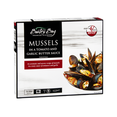 Bantry Bay Premium Seafoods Mussels in a Tomato & Garlic Butter Sauce