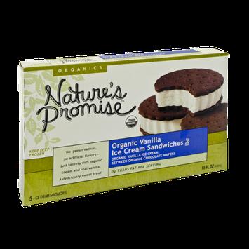 Nature's Promise Organics Organic Vanilla Ice Cream Sandwiches