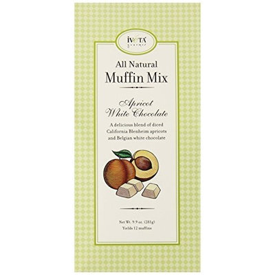 Iveta Gourmet Muffin Mix, Apricot White Chocolate, 9.9-Ounce Units (Pack of 4)