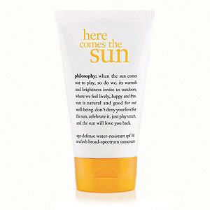 philosophy here comes the sun age-defense water-resistant spf 30 uva/uvb broad-spectrum sunscreen