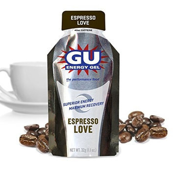 Gu Energy Labs GU Original Sports Nutrition Energy Gel, Espresso Love, 24-Count