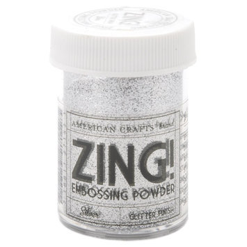 American Crafts Zing! Glitter Embossing Powder 1 Oz-Silver