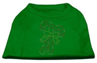 Ahi Candy Cane Rhinestone Shirt Emerald Green Med (12)
