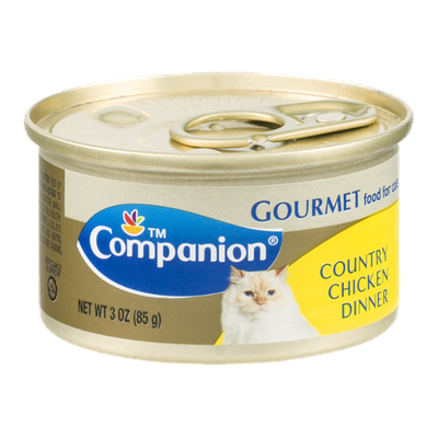 Companion Gourmet Food for Cats Country Chicken Dinner 3 OZ