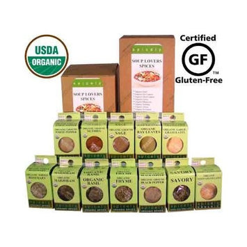 Spicely Organic Spices Gift Set Soup Lovers 12-box Sampler ........Low Rate Shipping