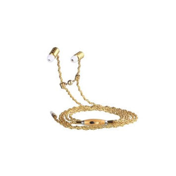 Fusion By Dazzle DZ10006 Jewel Earphone Spiral Gold