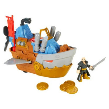 Fisher-Price Imaginext Pirate Shark Boat Vehicle Play Set