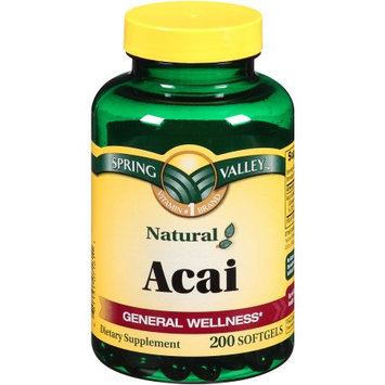 Wal-mart Stores, Inc. Spring Valley Acai Dietary Supplement Softgels, 200 count