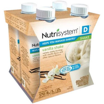 Nutrisystem D Vanilla Shakes, 10 fl oz, 4 count, (Pack of 3)