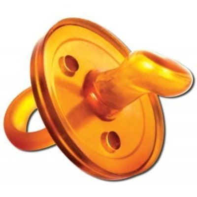 The UMMY: BPA-free 100% Natural Rubber Pacifier with Orthodontic Nipple, 0-6 months