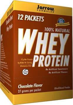 Jarrow Formulas 100% Natural Whey Protein Chocolate 12 Packets