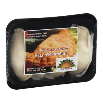 Deep Pockets Beef Empanadas Caribbean Seasoned - 4 CT