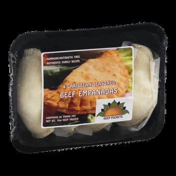 Deep Pockets Beef Empanadas Caribbean Seasoned - 4 CT