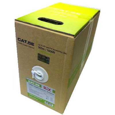 Rix Cat5e 350MHz 1000' Boxed Network Cable, White