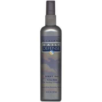 Clairol Daily Defense, Spray Gel, Extra Hold, 8.0 fl oz (2 pack)