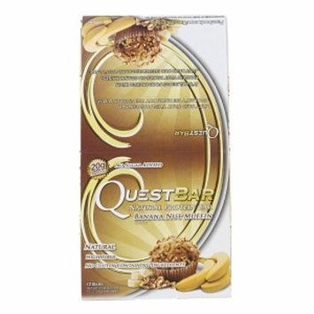 QuestBar Natural Protein Bar, Banana Nut Muffin, 12 ea