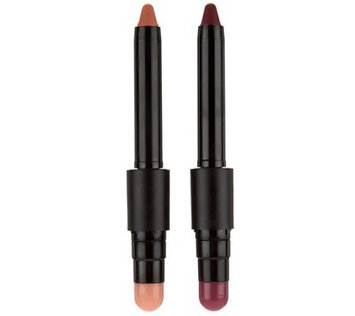 Qvc tre Sti Que Matte Color & Shiny Balm Lip Crayon Duo