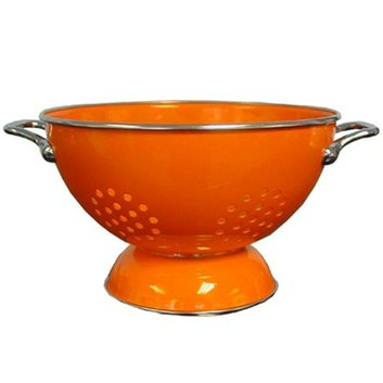 Reston Lloyd Enamel/ Stainless Steel Colander - Orange (3-qt)