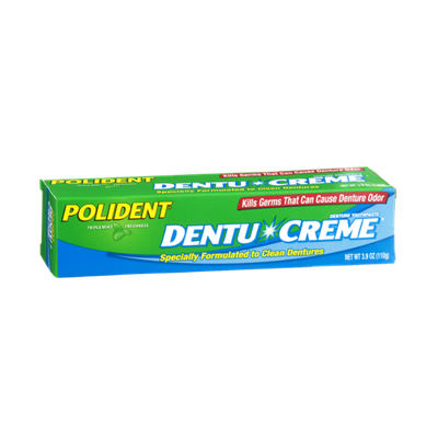 Polident Dentu-Creme Triple Mint Freshness Denture Toothpaste