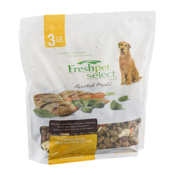 Freshpet Select Roasted Meals Chicken Recipe With Carrots & Spinach Dog Food