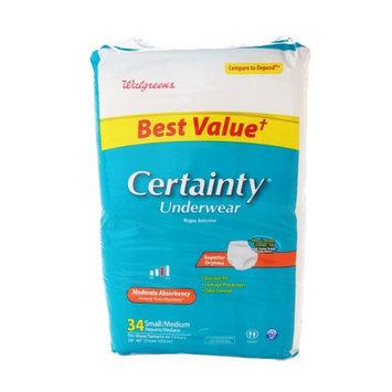 Walgreens Certainty Unisex Medium Underwear Moderate Absorbency