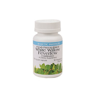 Eclectic Institute Inc White Willow Feverfew 90 Caps