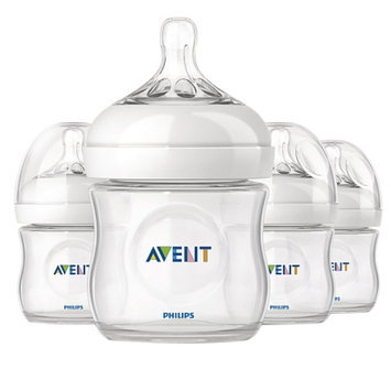 Avent Natural 4oz Bottle, Polypropylene
