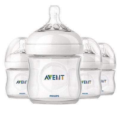 Avent Natural 4oz Bottle, Polypropylene