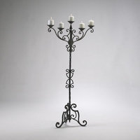 Floor Candelabra CYAN DESIGN RIALTO Antique Patina Gold Iron New CY-1651