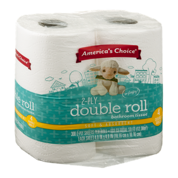 America's Choice Bathroom Tissue Double Roll 2-Ply - 4 CT