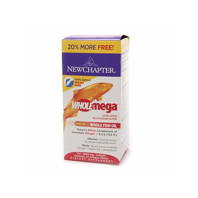 New Chapter WholeMega 1000mg Extra Virgin Whole Fish Oil