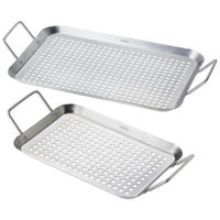 CHEFS Barbeque Grill Tray Set, 2 Pieces