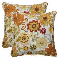 Pillow Perfect Outdoor 2-Piece Square Throw Pillow Set - Corona