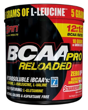 San Nutrition SAN Bcaa Pro Reloaded Supplement, Strawberry Kiwi, 456 Gram