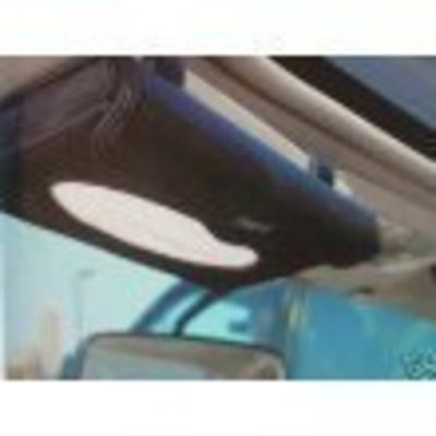 Tampo Tempo Black Leather Car Visor Tissue Holder with 20 Tissues