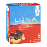 Luna Whole Nutrition Bar for Women Nutz Over Chocolate - 6 CT
