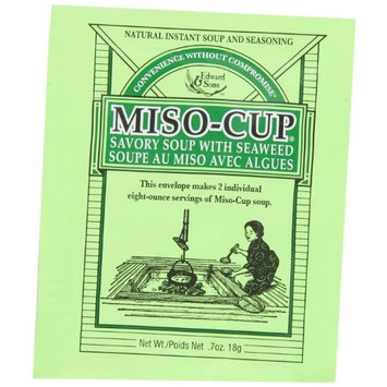 Edward & Sons Miso-Cup Soup with Seaweed, 2-Serving Envelopes (Pack of 24)