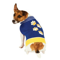 Fashion Pet Blue Pawz Dog Sweater Large