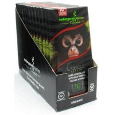 Endangered Species Chocolate Organic Dark Chocolate with Goji Berry, Pecans & Maca (Spider Monkey)