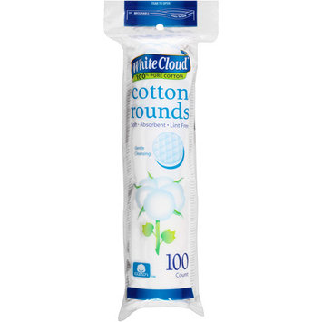 White Cloud Cotton Rounds, 100 count