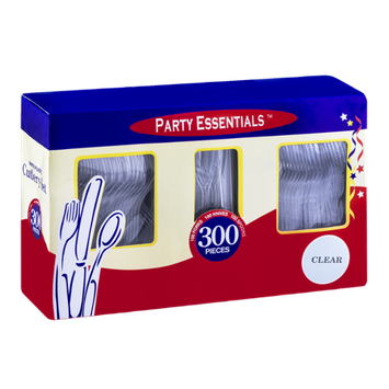 Party Essentials White Plastic Combo Cutlery Set Clear - 300 CT