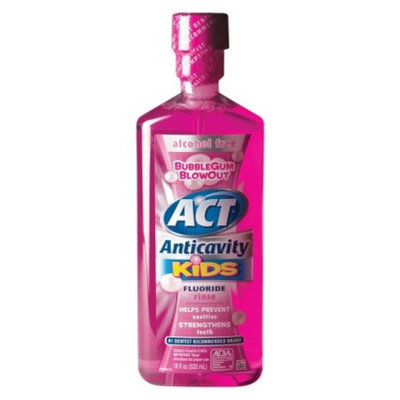 ACT Kids Alcohol Free Anticavity Fluoride Rinse for Kids