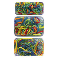 Gimme Clips Primary Plastic Elastics - Orange/Red/Blue/Green/Yellow