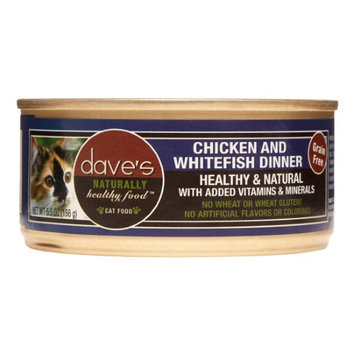 Dave's Pet Food Dave's Canned Cat Food Chicken and Whitefish Dinner