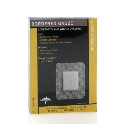 Medline MSC3245Z Medline Bordered Gauze - 4 x 5 Inches - Box Of 15